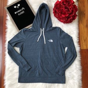 Ladies The North Face light hoodie blue/grey